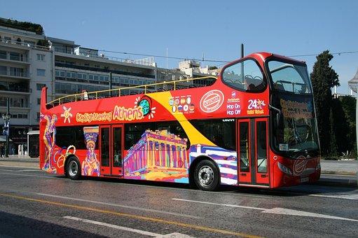 Athens, Greece, Tour Bus, Landmark, Travel, Europe