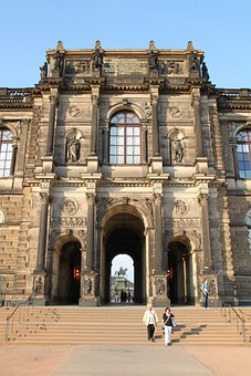 Dresden, Germany, Zwinger, Palace, Building, Landmark