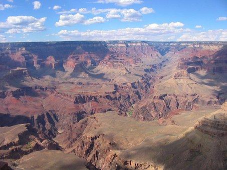 Grand Canyon, Landscape, Arizona, Mountains, Valley