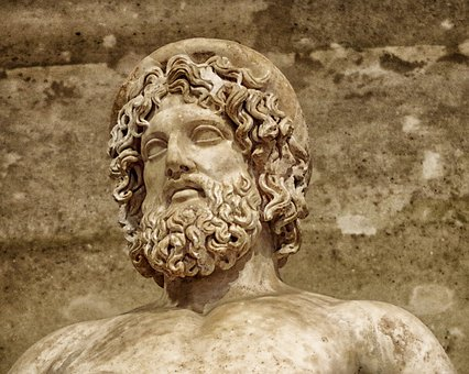 Aesculapius, Statue, Sculpture, Monument, Louvre, Paris