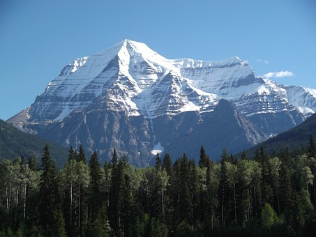 Mount Robson, Mountain, Snow, Canada, Snow Caped