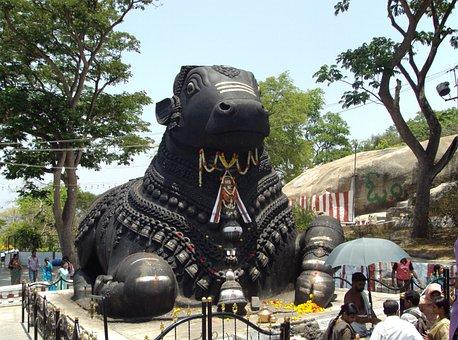 Nandi, Bull, Mysore, Karnataka, Sculpture, Monument