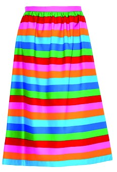 Skirt, Striped, Rainbow Colors, Beautiful, Clothing