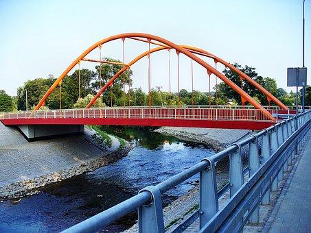 Bridge, River, Landscape, Water, Architecture