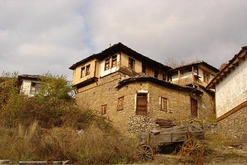 Leshten, House, Traditional, Bulgaria, Rodopi, Village