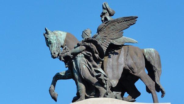 Cobelza, Monument, Horse, Sculptures, Roman