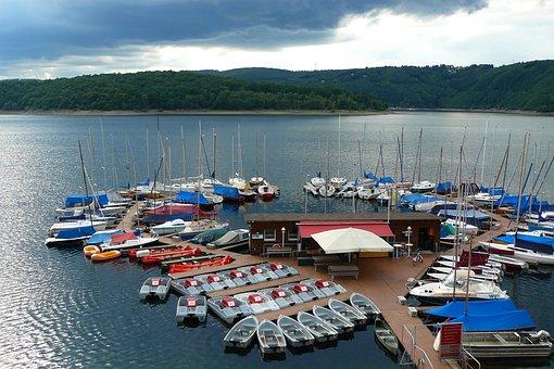 Lake, Landscape, Sailing Boats, Sailing Vessel, Mast