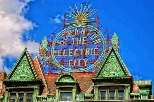 Scranton, Pennsylvania, Building, Facade, Hdr, Sign