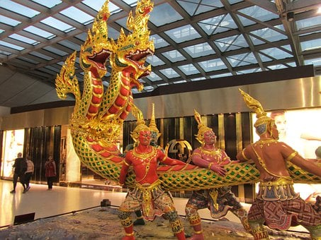 Vishnu Kurmavatara, Thailand, Airport Bombay, Sculpture