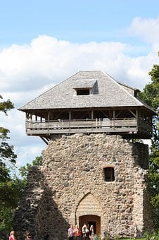 Castle Tower, Sigulda, Middle Ages, Landmark, Culture