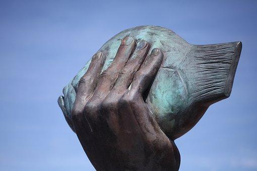 Hand, Butt, Sculpture, Sonderburg, Günther Grass