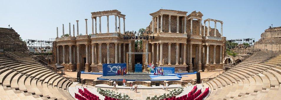 Teatro Romano, Mérida, Spain, Landmark, Culture, Ruins
