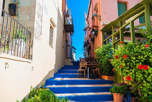 Crete, Rethymno, The Color Stairs, Monuments
