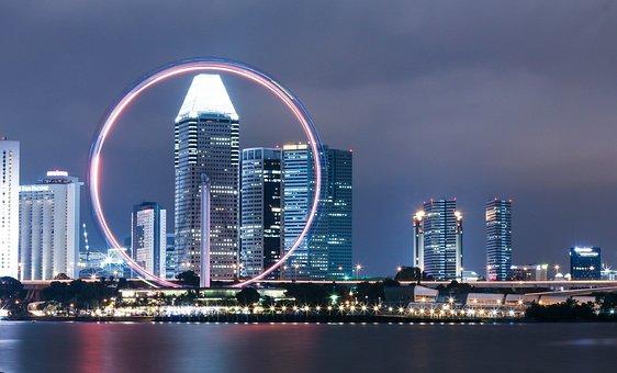 Singapore Flyer, Ferris Wheel, Singapore, Wheel, Ferris