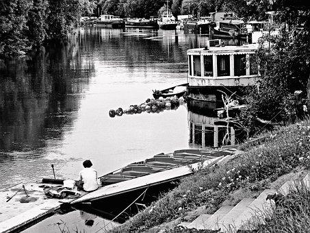 The River Seine, Seine, The Barge, Wharton, William