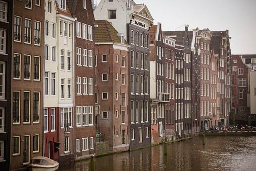 Amsterdam, Houses, Canal, Zeedijk, Landscape, Building