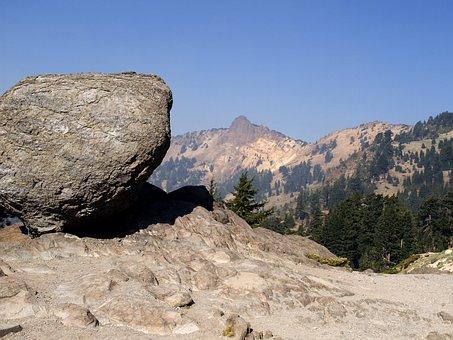 Balanced Rock, Lassen Volcano National Park, California