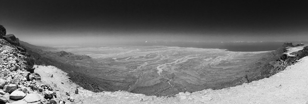 Oman, Salalah, Desert, Black And White, Landscape, Land