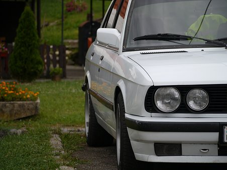 Bmw, E28, White, Car, Old