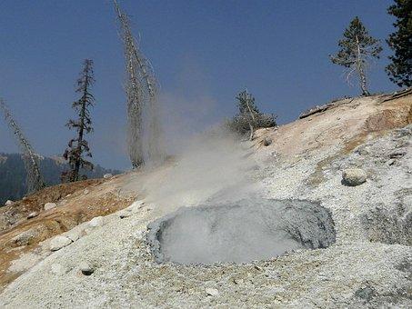 Lassen Volcano National Park, California, Usa, Erosion