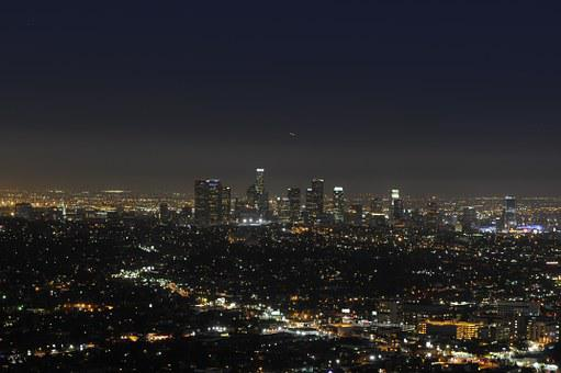City, Los Angeles, Nocturne, Lights, Landscape