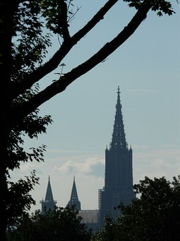 View, Distant, Münster, Ulm Cathedral, Dom, Church
