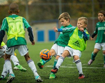 Child, Footballer, Shot, Use, Football, Team, Fight