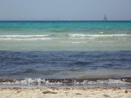 Sea, Ocean, Blue, Water, Beach, Holiday, Coast