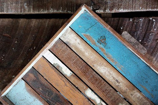Wood, Boards, Floor, Painted, Grunge, Old, Wooden