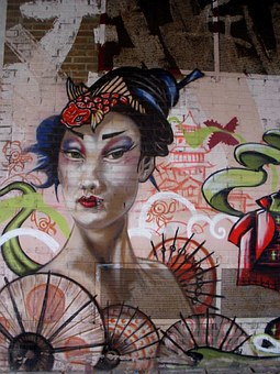 Spain, Vitoria-gasteiz, Graffiti, Painting, Art