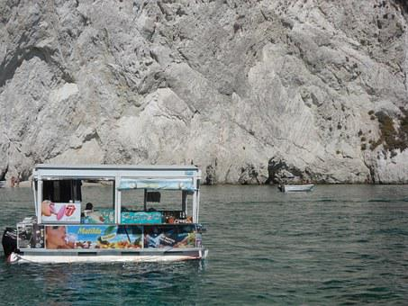Ice Cream, Great, Greece, River, Lake, Holiday, Summer