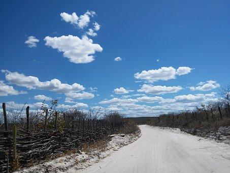 Road, Caatinga, Semiarid, Ceará, Quiterianópolis
