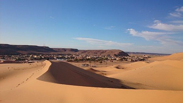 Dune, Sahara, Desert, Taghit, Algeria