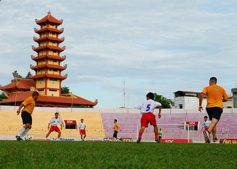 Quy Nhon, Vietnam, Building, Soccer, Football, Field