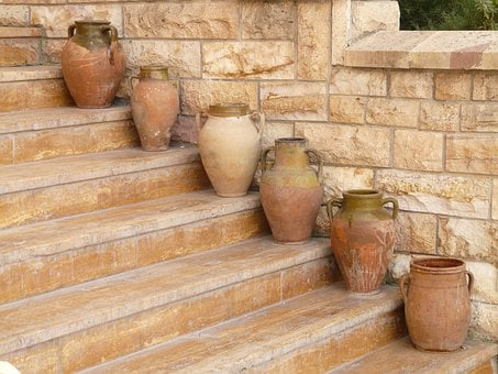 Amphora, Vases, Pottery, Stairs, Gradually
