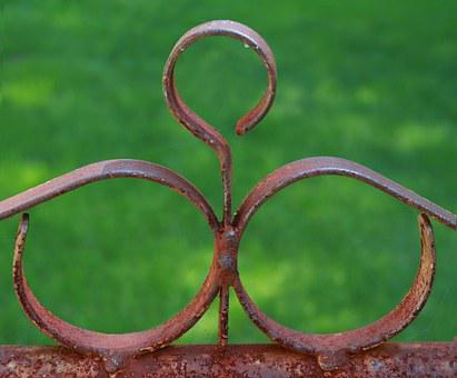 Rust, Circles, Fence, Rusted Fence, Metal, Vintage