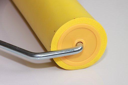 Eva, Roller, Rubber, Seam, Wallpaper, Yellow, Tools