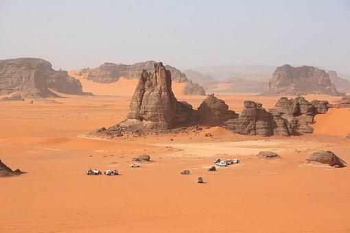 Algeria, Sahara, Desert, Dunes, 4x4, Sand, Erosion