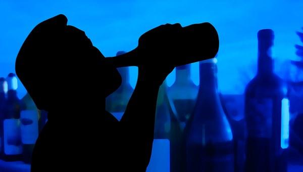 Man, Silhouette, The Customary, Alk, Alcohol