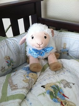 Sheep, Baby, Toy, Crib, Animal, Lamb, Little, Character