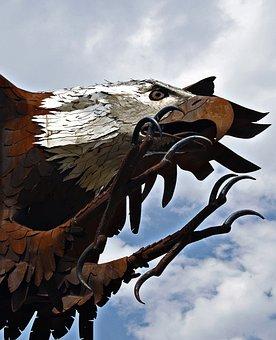 Eagle, Bald, Metal, Artwork, American, Raptor, Symbol