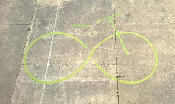 Bike, Symbol, Airfield, Aspern