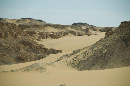 Desert, Sand, Egypt, Africa, Hot, Dry, Sand Dunes