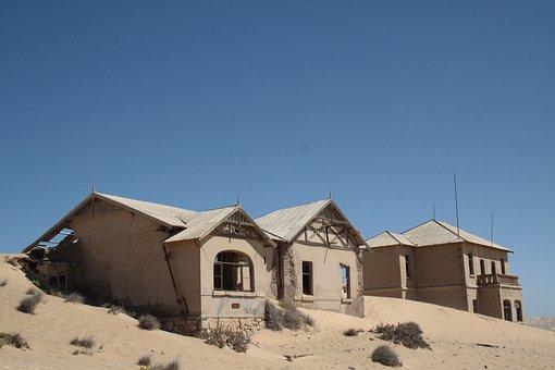 Ghost Town, Desert, Sand, Abandoned, Deserted, Rundown