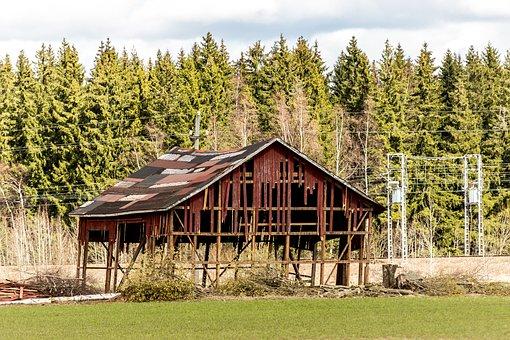 House, Deserted House, Barn, Run-down