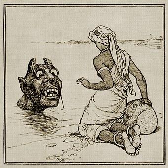 Goblin, Ogre, Water, Fantasy, Fairytale, River Man