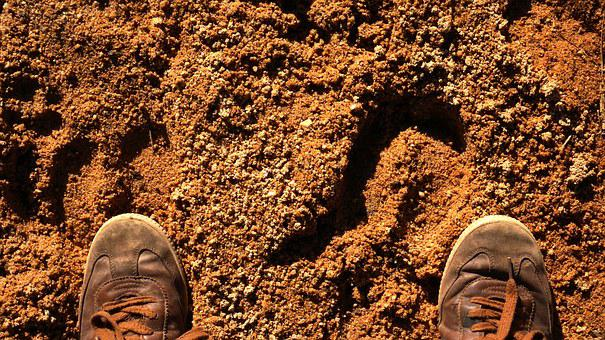 Sarin, Mouding, Yuanmou, Foot, Boots, Ground, Sand