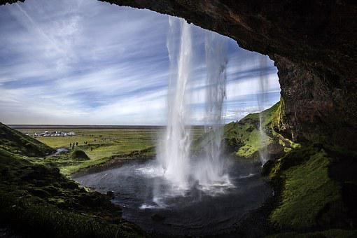 Seljalandsfoss, Waterfall, Iceland