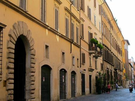 Rome, Italy, Street, City, Building, Architecture