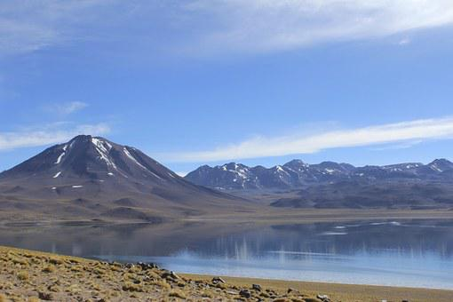 Laguna Miscanti, Chile, Lake, Atacama, Desert